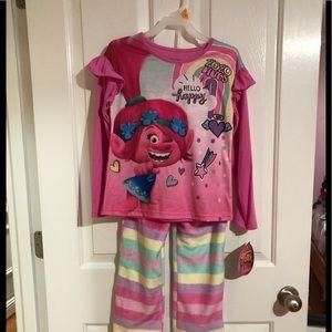 Other - Girls new with tags two piece pajama set trolls 6x